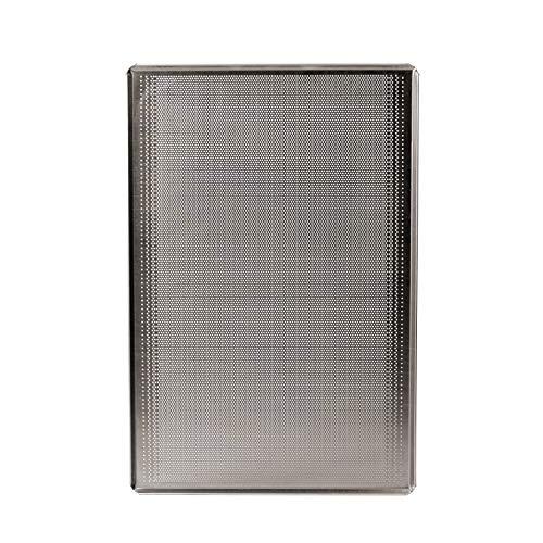Silicon-Tech   3 Teglie da Forno 60x40 Forate, Professionali, in Alluminio   Naturale   Foro 2 (Piccolo) Passo 3,5