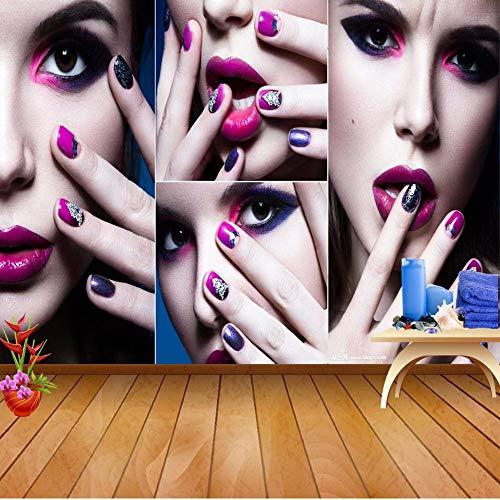 Wuyii Spa Nail Foot Salon Art Cosmetic 3D Wallpaper voor de woonkamer achtergrond 3D rollen papier achtergrond folie A 350 x 250 cm