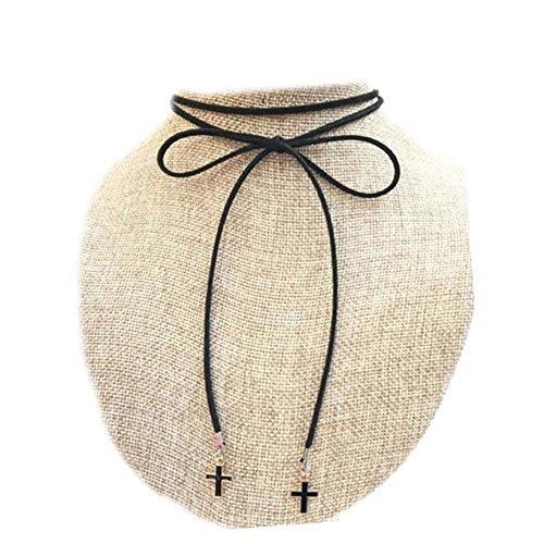 Collier de cordon de mode Belle corde de cou noir