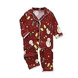 N/G Navidad Pijamas Party Niño Niñas, Alifewill Pijamas de Dibujos Animados navideños para bebés, niños y niñas, Ropa de Dormir, Ropa de Dormir, Top Infantil de Dos Piezas