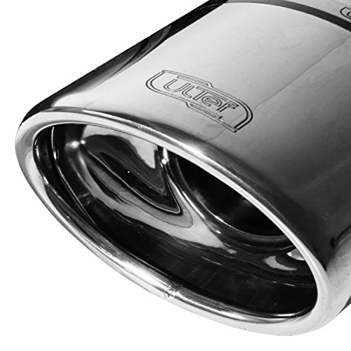 Échappement double compatible avec Opel Astra H Combi 1.3 CDTi 66kW/1.7 TDCi 59/74kW/1.9 TDCi 88/110kW 2004-2009 120x80mm