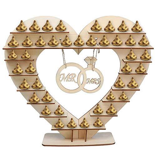 Naliovker Herren Und Frauen Schokolade Ständer, Für Ferrero Rocher Holz Schokolade Ständer, Für Hershey Kisses Hochzeit Süßigkeiten Ständer, Perfekte Dekoration Für Hochzeitsempfang