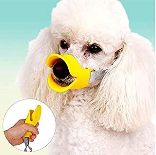 CC Anti Bite Duck Mouth Shape Dog Mouth Covers Anti-Called Muzzle Masks Pet Mouth Set Bite-Proof Silicone Material