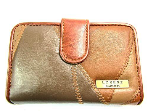 Emporium Leather Femmes Cuir Souple Porte-Monnaie Conçu Par Lorenz - Beige, 13.5cm X 9cm