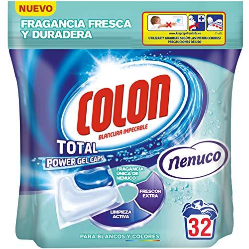 Colon Total Power Gel Caps Nenuco Detergente para Lavadora, Aroma Nenuco, Formato Cápsulas - 32 Dosis