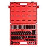 Sunex 3351, 3/8 Inch Drive Impact Socket Set, 51-Piece, Metric, 7mm - 22mm, Standard/Deep/ Universal, Cr-Mo Steel, Radius Corner Design, Heavy Duty Storage Case, Meets ANSI Standards