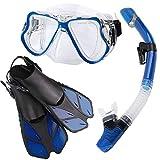 Zenoplige シュノーケルセット スノーケリング ドライスノーケル フィン・マスク・スノーケル 3点セット曇り止め 強化ガラス 収納バッグ付き 男女兼用