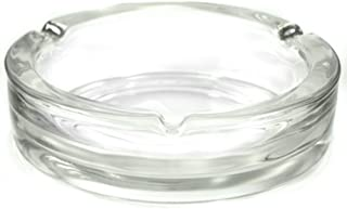 large clear glass ashtray