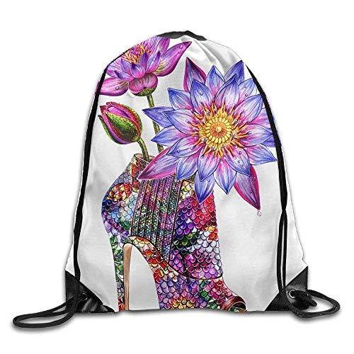 Etryrt Prämie Turnbeutel/Sportbeutel, Beautiful High Heels Gym Drawstring Backpack Unisex Portable Sack Bag