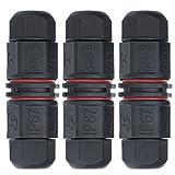 Caja de Conexión de Impermeable – Meersee 2/3 Polos Caja de Conexión dos Polos de Interior/Exterior IP67 Cable Ø 3-10.5mm 3pcs