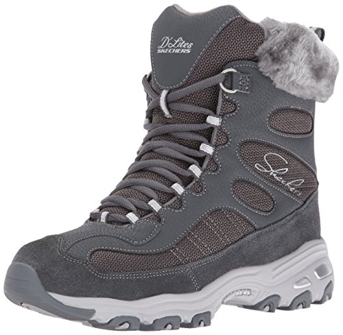 Skechers Damen Winterstiefel, anthrazit, 39 EU