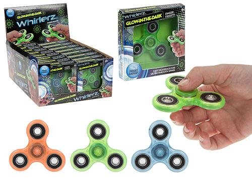 Whirlez Glow In The Dark Tri Fidget Hand Spinner Spielzeug: Amazon.es: Juguetes y juegos