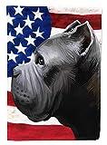 Caroline's Treasures CK6474CHF Cane Corso Dog American Flag Flag Canvas House Size, Large, Multicolor
