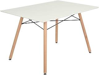 HOMYCASA Table à manger rectangulaire style scandinave pour 2 à 4 personnes 110x70x74 cm