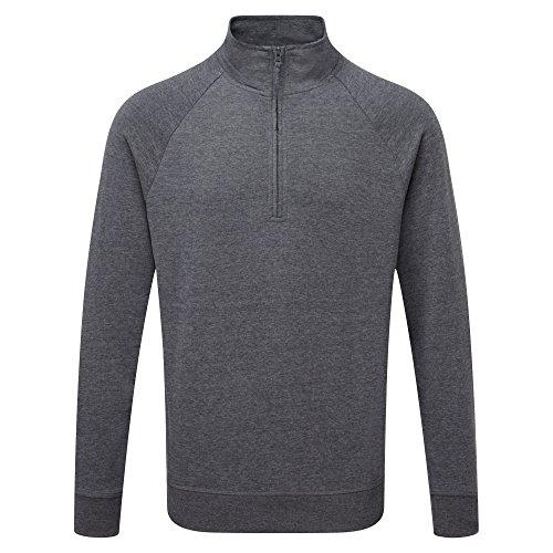 Russell Herren HD 1/4 Zip Sweatshirt (L) (Grau Meliert)