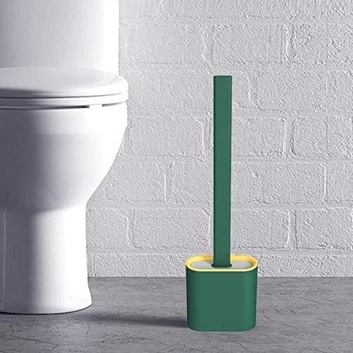 SHOP-STORY - Toilet Brush Green : Brosse WC Hygiénique en Silicone Flexible