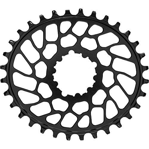 Absolute schwarz Sram Oval Direct-Mount Traktion Kettenblatt, unisex, Black/0mm Offset