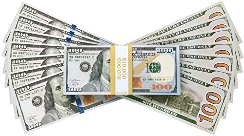 PROP MONEY REALISTIC AMERICAN DOLLARS $10,000 IMPRESIÓN COMPLETA NEW STYLE DOLLAR BILLS, Prop Fake Juego de imaginación Toy Notes Decoración del partido Disfraz Juegos de casino Supreme Cash Cannon