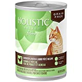 Holistic Select Natural Wet Grain Free Canned Cat Food, Chicken Liver & Lamb Pâté Recipe, 13-Ounce Can (Pack Of 12)
