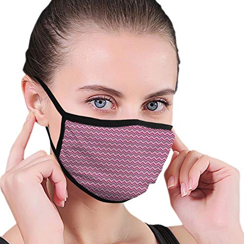 Comfortable Windproof mask,Retro Modern Zig Zag Stripes In Ikat Style Horizontal Lines Ethnic Tribal Design Adults