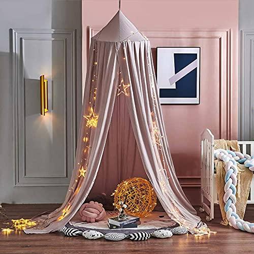 Baldachin, Delmkin Betthimmel Kinder, Hängen Moskitonetz Bett Vorhang für Kinderzimmer und Schlafzimmer (Pink)