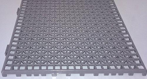 NOVINGRECONS Baldosa PP 30x30cm Gris (Paquete 24 ud.). Suelo Plastico. Suelo Apto para Exteriores o Interiores.