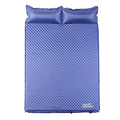 Camp Solutions 2 Person Self-Inflating Sleeping Pad with Pillow, Waterproof Lightweight Anti-Tear, for Outdoor Camping,Hiking,Backpacking,Travel