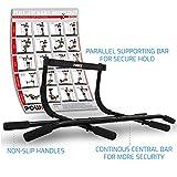 POWRX Multifunktions-/Klimmzugstange inkl. Workout | geeignet für Türrahmen | Verschiedene Griffvarianten | Max. Belastbarkeit bis 100 kg