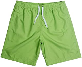 MogogoMen Surf Boxer Solid Plus-Size Relaxed Beach Board Shorts Pants