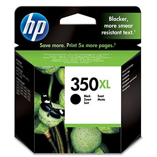 HP 350Xl CB336Ee Cartuccia Originale da 1000 Pagine, ad Alta Capacità, Compatibile con Stampanti a Getto di Inchiostro HP Deskjet D4200, D4300, Photosmart C5200, C4200, Officejet J5700, Nero