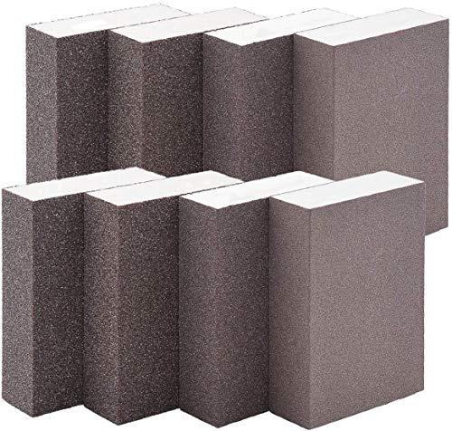 Amfago Sanding Sponge,Coarse/Medium/Fine/Superfine 8PCS 4 Different Specifications Sanding Blocks Assortment,Washable and Reusable. (8 PCS)