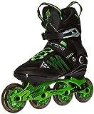 K2 Skate Men's F.I.T. Pro 84 Inline Skates, Black/Green, 9