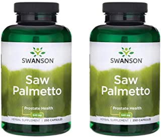 Swanson Saw Palmetto Herbal Supplement for Men Prostate Health Hair Supplement Urinary Health 540 mg 250 Capsules (2 Pack)