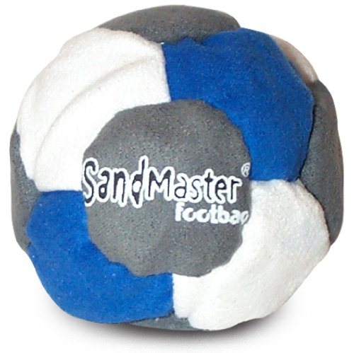 World Footbag SandMaster Hacky Sack Footbag, Grey/Blue/White
