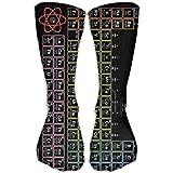 hfdff Schwarz Periodensystem Elemente Unisex Neuheit Crew Socken Knöchel Kleid Socken Passt Schuh 19,68 Zoll (50 cm)