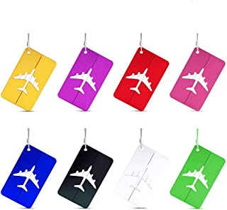 8Pcs Luggage Tags Travel Baggage Handbag Tag Suitcase ID Address Labels with Strong Aluminium Case locking Cables