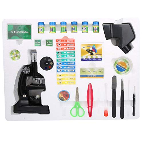 Xiangxin Microscope for Children, ABS Student Mocroscope, 60X Objective Lens Biological Microscope for Kids Children