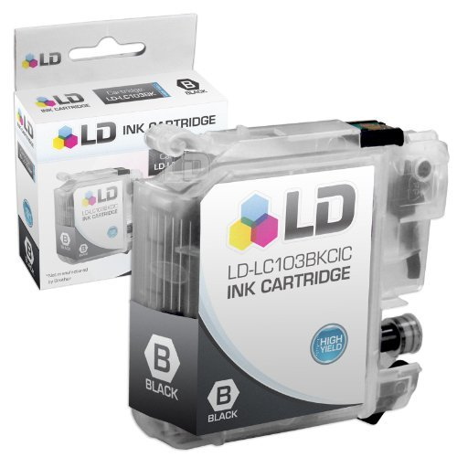LD Compatible Ink Cartridge Replacement for Brother LC103BK High Yield (Black, 2-Pack) Photo #3