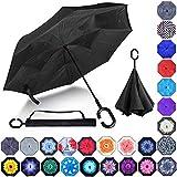 Best Brella Umbrellas - Double Layer Inverted Umbrellas Reverse Folding Umbrella Windproof Review
