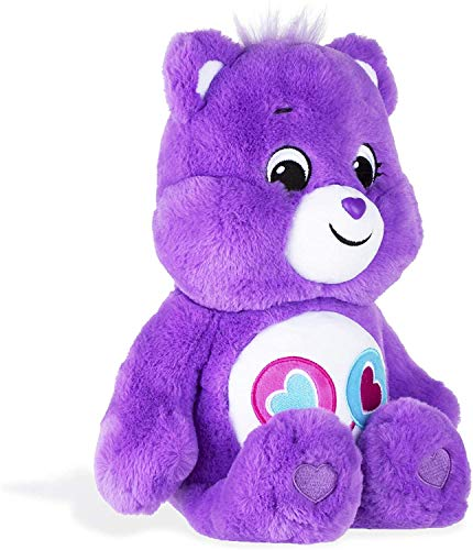 """P2P Care Bears 2020 Edition ~ (1) Share Bear Kids Girls with Belly Badge of Two Heart Lollipops ~ (1) """"Count Your Lucky Stars"""" Surprise (1) Pompom Polly ~ Bundle of 3"""