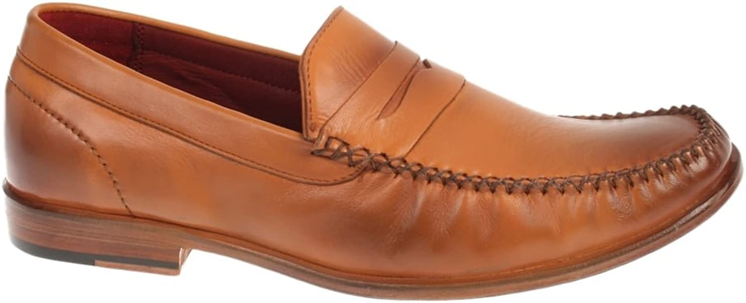 Justin Reece Slip on Leather Sole Loafer Hand Made Stitch Down