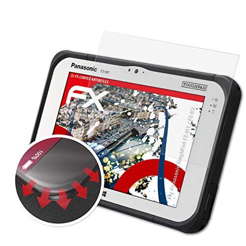 atFolix Schutzfolie kompatibel mit Panasonic ToughPad FZ-M1 / FZ-B2 Folie, entspiegelnde & Flexible FX Bildschirmschutzfolie (2X)