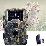 YGWLWL Mini Caméra De La Faune,Caméra De Chasse Étanche,Caméra De Chasse 16MP 1080P avec Objectif Grand Angle 120° LCD 2,4'Et Panneau Solaire,Temps De Déclenchement 0,2-0,5 S