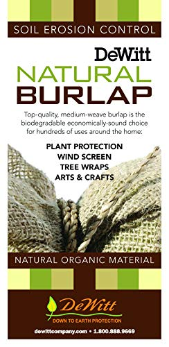 Dewitt 4-Foot by 250-Foot Natural Burlap NB4