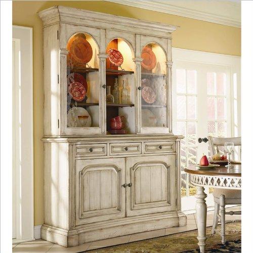 Hot Sale Hooker Furniture Summerglen 62 Inch Buffet and Hutch in Antique White
