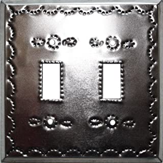 Fine Crafts Imports Double Toggle Silver Tin Switchplate