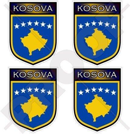 KOSOVO Kosovischer Schild 50mm Auto & Motorrad Aufkleber, x4 Vinyl Stickers