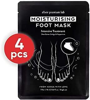 Moisturizing Foot Mask - Hydrating Socks for Women & Men - Spa Feet Treatment Booties - Best Korean Moisturizer for Dry Heel (4 Pack)