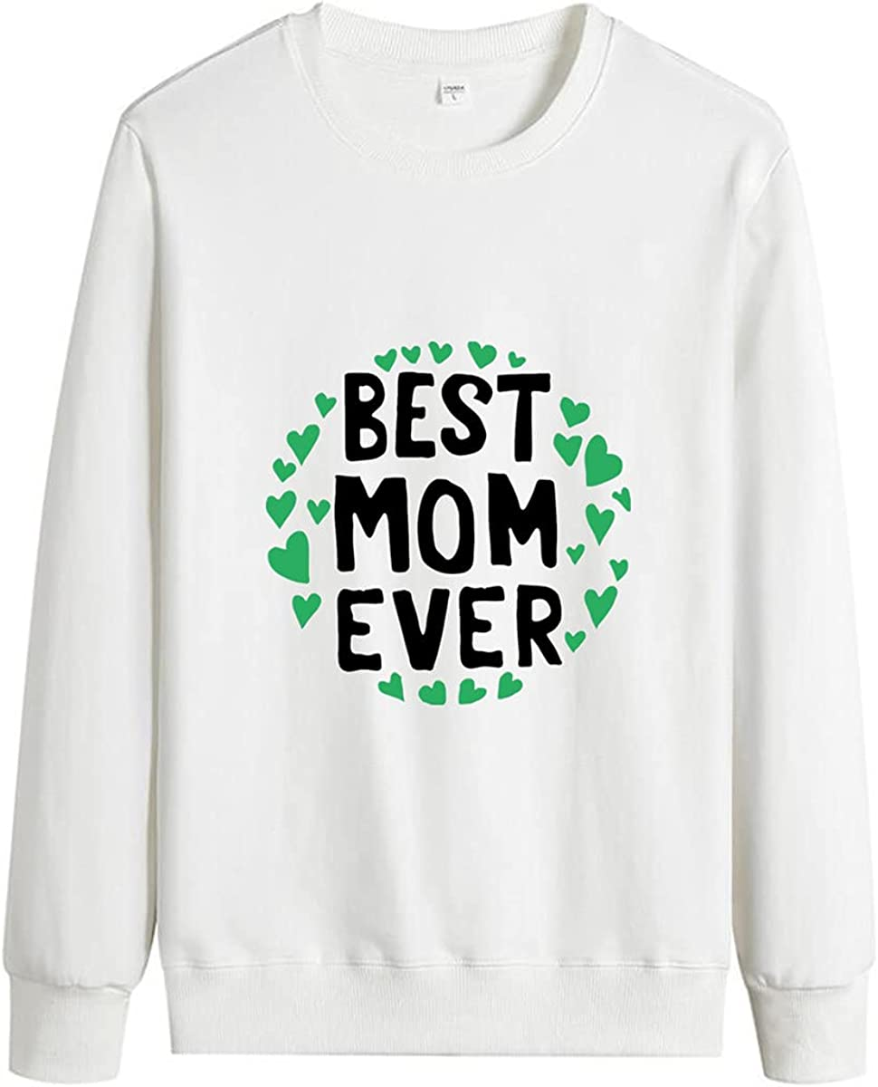 Unisex Pullover Mom Pattern Comfortable Cotton Pullover Casual Pullover