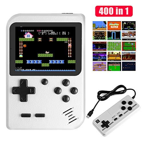 Molyhood Handheld Spielkonsole Tragbare Spielkonsole 2,8-Zoll-Display Eingebaute 400 Klassische Spiele, Support-TV Plus Zwei Player